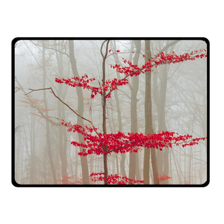 Magic Forest In Red And White Fleece Blanket (Small)