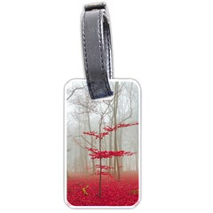 Magic Forest In Red And White Luggage Tags (one Side)