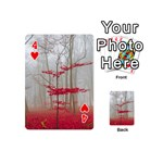 Magic Forest In Red And White Playing Cards 54 (Mini)  Front - Heart4