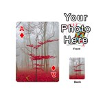 Magic Forest In Red And White Playing Cards 54 (Mini)  Front - DiamondA