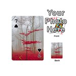 Magic Forest In Red And White Playing Cards 54 (Mini)  Front - Spade7
