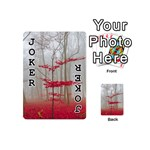Magic Forest In Red And White Playing Cards 54 (Mini)  Front - Joker1