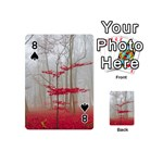 Magic Forest In Red And White Playing Cards 54 (Mini)  Front - Spade8