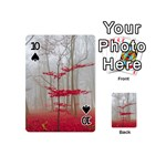 Magic Forest In Red And White Playing Cards 54 (Mini)  Front - Spade10