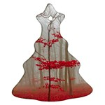 Magic Forest In Red And White Christmas Tree Ornament (2 Sides) Front
