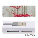 Magic Forest In Red And White Memory Card Reader (Stick)  Front