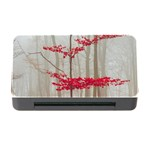 Magic Forest In Red And White Memory Card Reader with CF Front