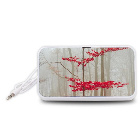 Magic Forest In Red And White Portable Speaker (White)