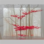 Magic Forest In Red And White Deluxe Canvas 16  x 12   16  x 12  x 1.5  Stretched Canvas