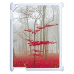 Magic Forest In Red And White Apple iPad 2 Case (White) Front