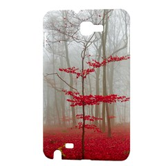 Magic Forest In Red And White Samsung Galaxy Note 1 Hardshell Case