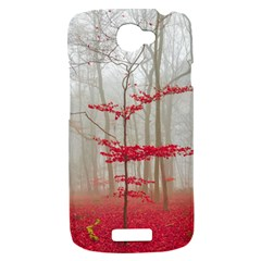 Magic Forest In Red And White HTC One S Hardshell Case