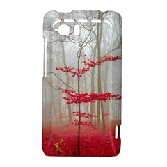 Magic Forest In Red And White HTC Vivid / Raider 4G Hardshell Case