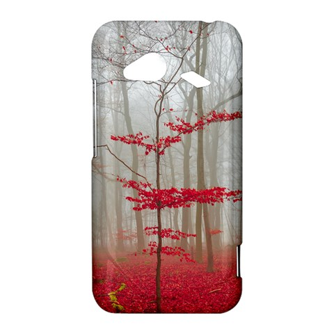 Magic Forest In Red And White HTC Droid Incredible 4G LTE Hardshell Case