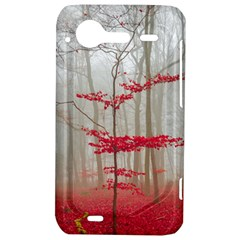 Magic Forest In Red And White HTC Incredible S Hardshell Case