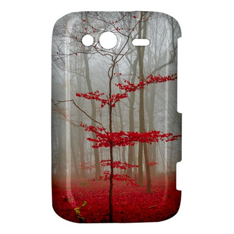 Magic Forest In Red And White HTC Wildfire S A510e Hardshell Case