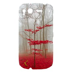 Magic Forest In Red And White HTC Desire S Hardshell Case