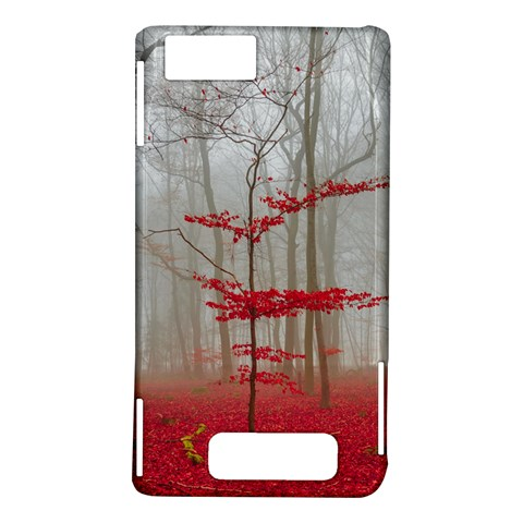 Magic Forest In Red And White Motorola DROID X2
