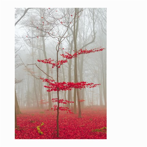 Magic Forest In Red And White Large Garden Flag (Two Sides)