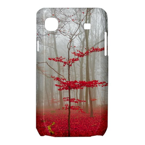 Magic Forest In Red And White Samsung Galaxy SL i9003 Hardshell Case