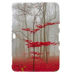 Magic Forest In Red And White Samsung Galaxy Tab 8.9  P7300 Hardshell Case