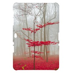 Magic Forest In Red And White Samsung Galaxy Tab 10.1  P7500 Hardshell Case