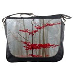 Magic Forest In Red And White Messenger Bags Front