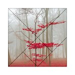 Magic Forest In Red And White Acrylic Tangram Puzzle (6  x 6 ) Front