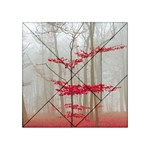 Magic Forest In Red And White Acrylic Tangram Puzzle (4  x 4 ) Front