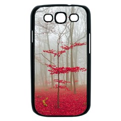 Magic Forest In Red And White Samsung Galaxy S III Case (Black)