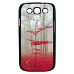 Magic Forest In Red And White Samsung Galaxy S III Case (Black) Front