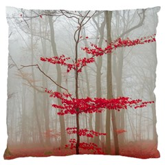 Magic Forest In Red And White Large Cushion Case (one Side)