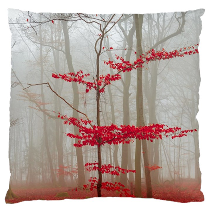 Magic Forest In Red And White Large Cushion Case (Two Sides)