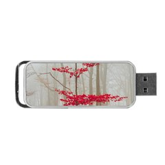 Magic Forest In Red And White Portable USB Flash (Two Sides)