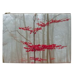Magic Forest In Red And White Cosmetic Bag (XXL)