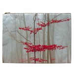 Magic Forest In Red And White Cosmetic Bag (XXL)  Front