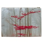 Magic Forest In Red And White Cosmetic Bag (XXL)  Back
