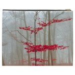Magic Forest In Red And White Cosmetic Bag (XXXL)  Back