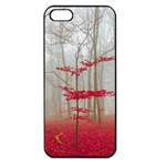 Magic Forest In Red And White Apple iPhone 5 Seamless Case (Black) Front