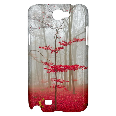 Magic Forest In Red And White Samsung Galaxy Note 2 Hardshell Case