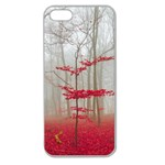 Magic Forest In Red And White Apple Seamless iPhone 5 Case (Clear) Front
