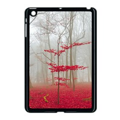 Magic Forest In Red And White Apple Ipad Mini Case (black)