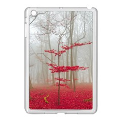Magic Forest In Red And White Apple iPad Mini Case (White)