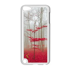 Magic Forest In Red And White Apple iPod Touch 5 Case (White)