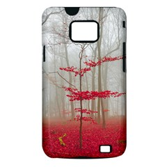 Magic Forest In Red And White Samsung Galaxy S II i9100 Hardshell Case (PC+Silicone)