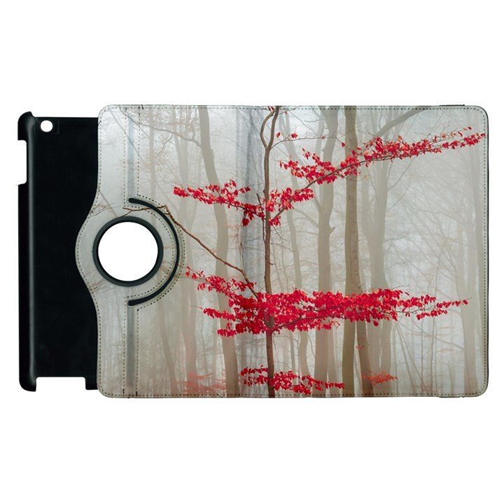 Magic Forest In Red And White Apple iPad 3/4 Flip 360 Case