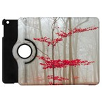Magic Forest In Red And White Apple iPad Mini Flip 360 Case Front