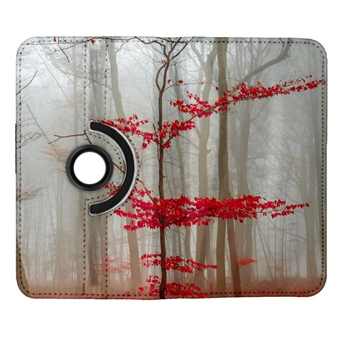 Magic Forest In Red And White Samsung Galaxy Note II Flip 360 Case