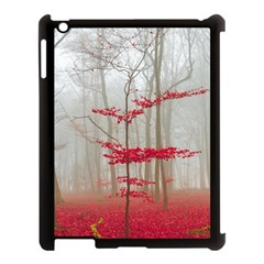 Magic Forest In Red And White Apple iPad 3/4 Case (Black)