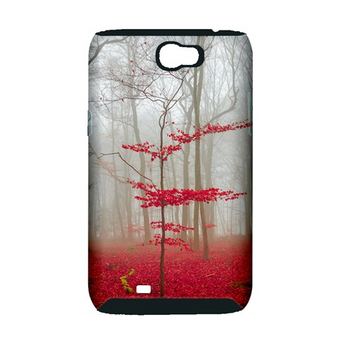 Magic Forest In Red And White Samsung Galaxy Note 2 Hardshell Case (PC+Silicone)